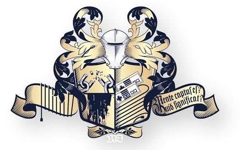 Das Vidgames Wappen - für Freiheit, Brüderlichkeit, Zensurfreiheit und Videospiele!